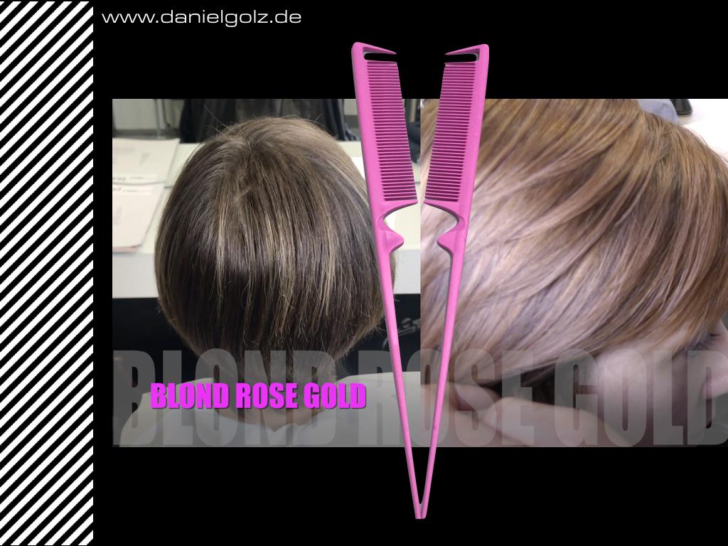 Blond Gold Rose mit dem neuen Stielkamm 4.1 PINK