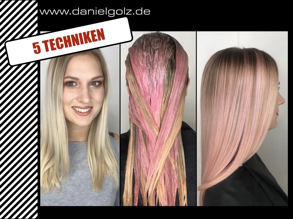 5 Trend Haarfarben + Technik