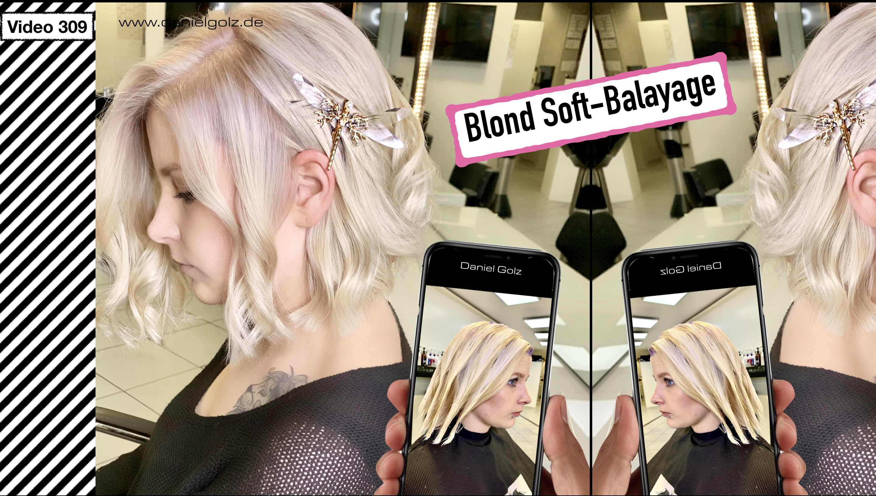 Soft Balayage im blondem Haar