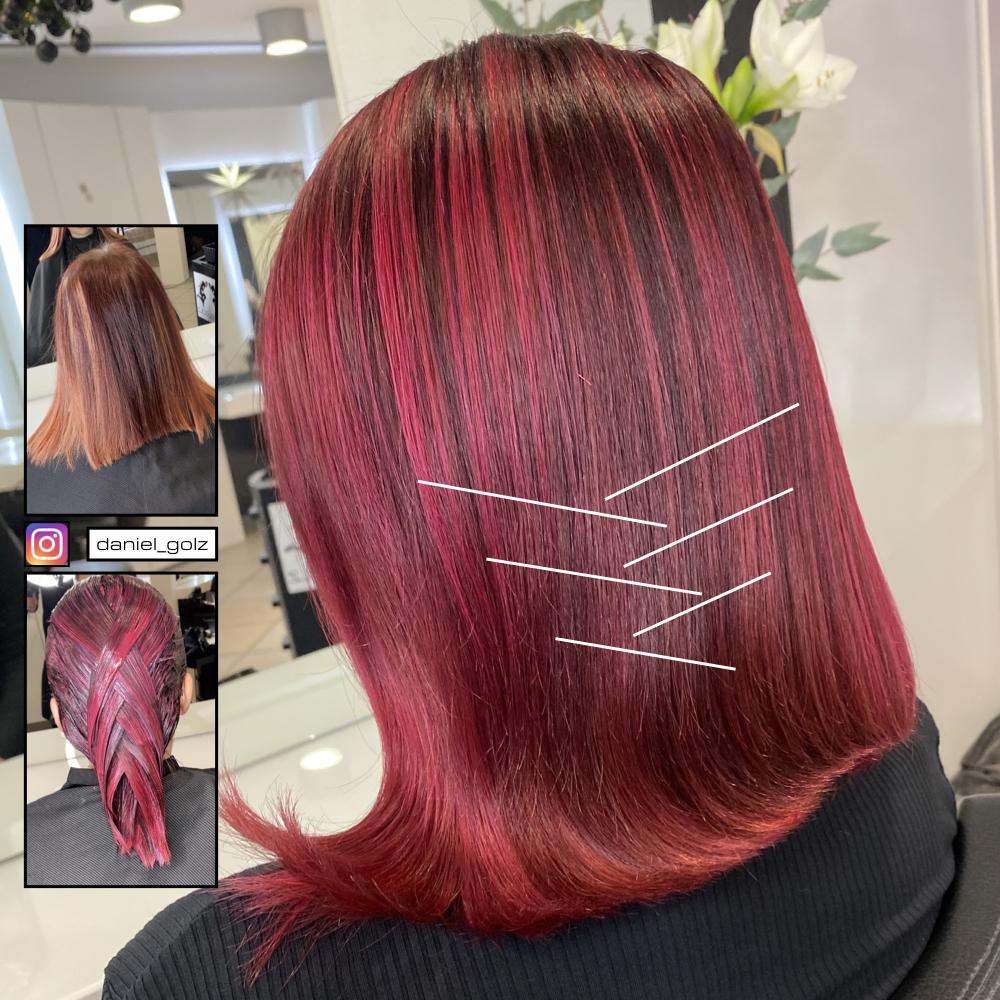 Rote Haarfarbe