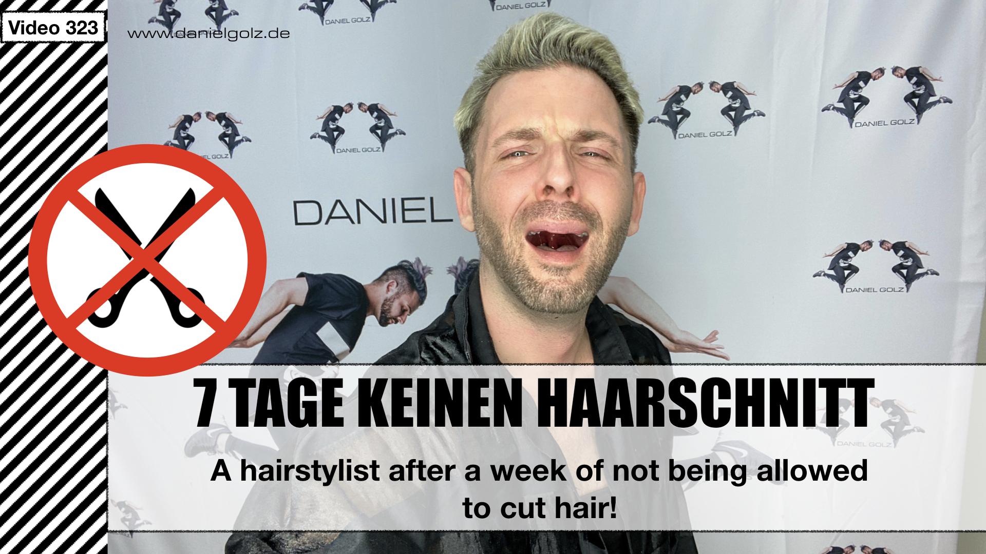 Ein Friseur nach einer Woche ohne Haare schneiden.